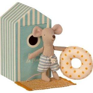 Maileg Maileg | Little brother beach mouse | Kleine broer in strandhuisje