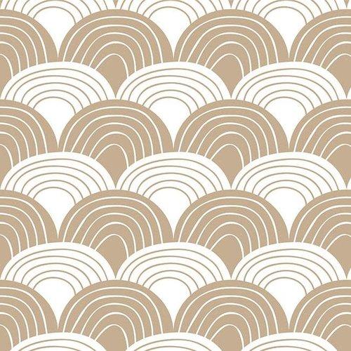 Swedish Linens Swedish Linens | Rainbows Warm sand | 90x200 hoeslaken 1-persoons