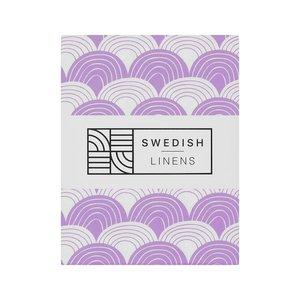 Swedish Linens Swedish Linens | Rainbow Lilac | 60x120 hoeslaken ledikant formaat