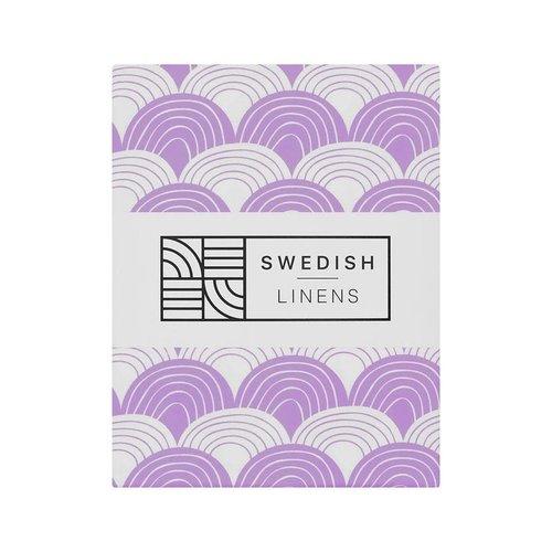 Swedish Linens Swedish Linens | Rainbows Lilac | 90x200 hoeslaken 1-persoons