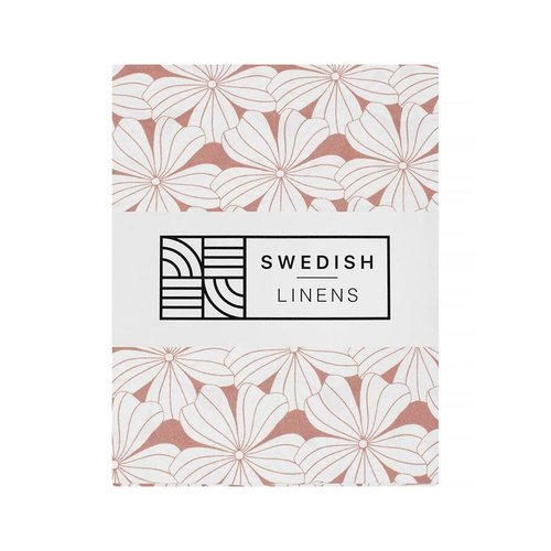 Swedish Linens Swedish Linens | Hoeslaken Flowers | Terracotta Pink