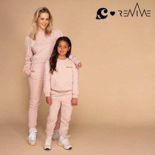 &C x REVIVE &C x Revive | Jogging pants long | Roze