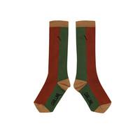 CarlijnQ   Knee socks   Color block ginger/green