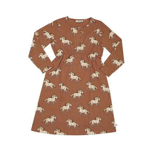 CarlijnQ CarlijnQ | 2 button dress | Jurk Wild horse