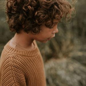 Yuki Kidswear Yuki   Chunky knit Sweater   Gold