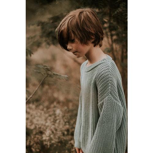 Yuki Kidswear Yuki | Chunky knit Sweater | Ocean