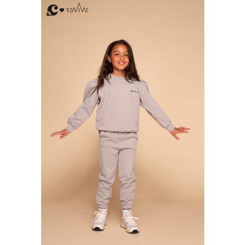 &C x REVIVE &C x Revive | Kids sweater GIRL | Grijs | Let's go