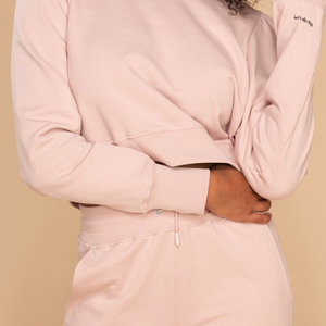 &C x REVIVE &C x Revive | Cropped sweater oud roze | Let's do this