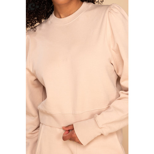 &C x REVIVE &C x Revive | Cropped sweater beige | You can do this