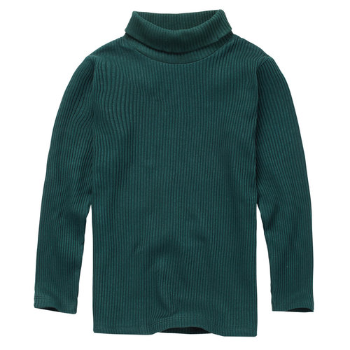 Mingo kids Mingo | Rib turtle neck | Coltrui Dark Emerald