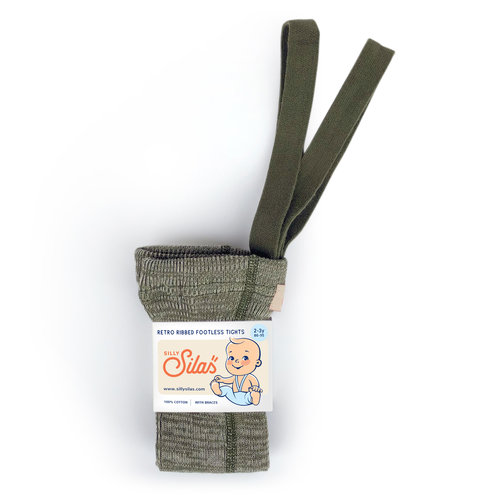 Silly Silas Silly Silas | Maillot met bretels zonder voetjes | Creamy Olive