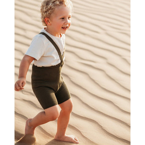 Silly Silas Silly Silas | Shorty maillot met bretels | Olive