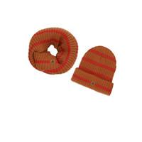 Ammehoela   Bobbie.12   Sjaal + muts set bronze