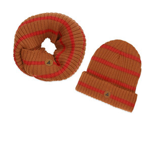 Ammehoela Ammehoela | Bobbie.12 | Sjaal + muts set bronze