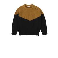 Ammehoela   Joe.01   Knitted sweater black + ochre