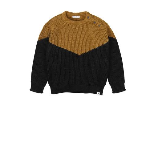 Ammehoela Ammehoela | Joe.01 | Knitted sweater black + ochre