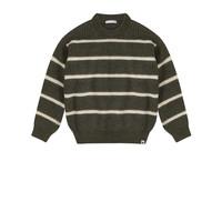 Ammehoela   Jumper.05   Knitted sweater hedge green stripe