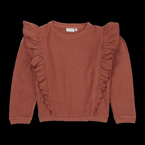 Blossom Kids Blossom Kids | Volant sweater Deep Coral