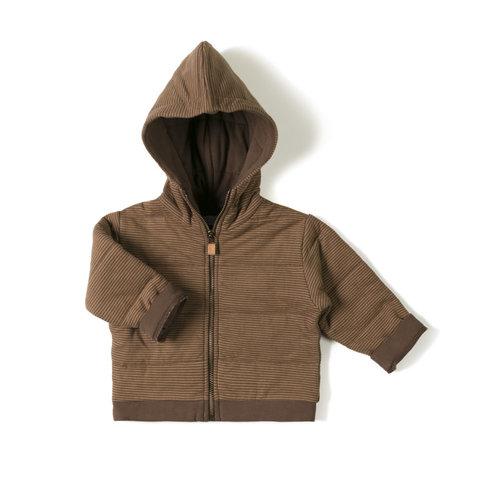 Nixnut Nixnut | Baby jacket | Stripe Toffee