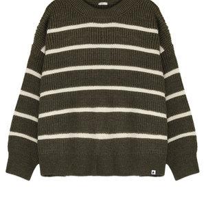 Ammehoela Ammehoela | Jumper.Mom.02 | Adult knit sweater hedge green stripe