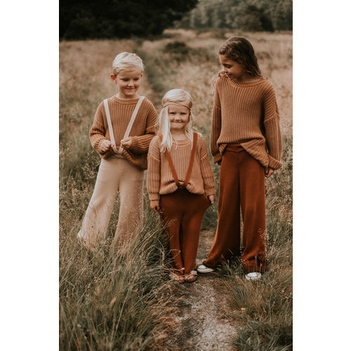 Yuki Kidswear Yuki | Chunky knitted Trousers | Rust