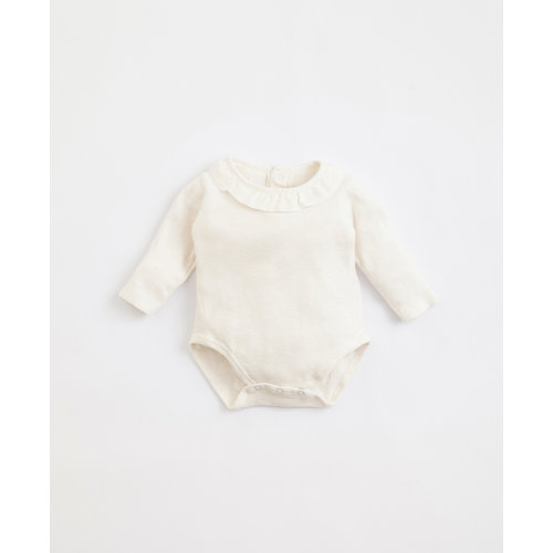 Play Up Play Up | Flamé body | Romper met frill kraagje wit