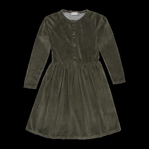 Blossom Kids Blossom Kids | Velvet dress | Jurk sage