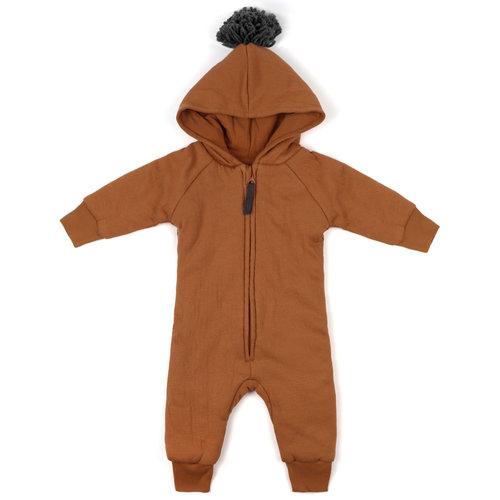 Phil & Phae Phil & Phae | Padded babysuit | Babypakje hazel brown