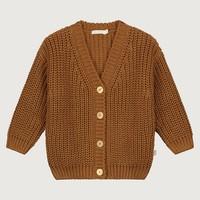 Yuki   Chunky knitted cardigan   Rust