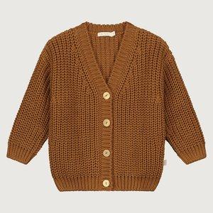Yuki Kidswear Yuki | Chunky knitted cardigan | Rust