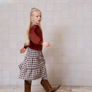 House of Jamie House of Jamie | Midi Skirt | Rok Charcoal Vichy