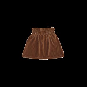 House of Jamie House of Jamie | Paperbag Skirt | Rok Ginger bread rib velvet