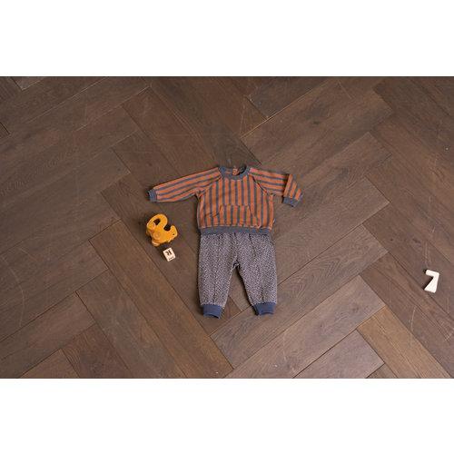 House of Jamie House of Jamie | Raglan Sweater | Ginger + Granite stripes