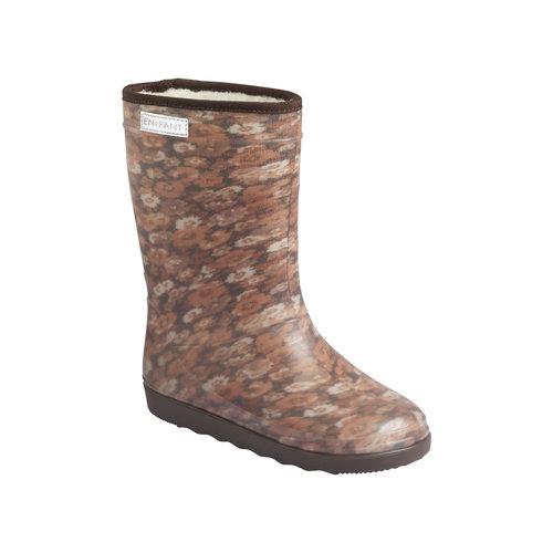 En Fant En Fant | Thermo Boots Print | Laarzen Chestnut Flowers