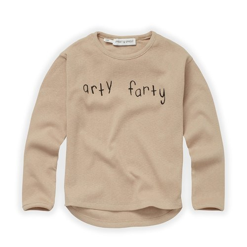 Sproet & Sprout Sproet & Sprout | Rib longsleeve Arty Farty | Nougat
