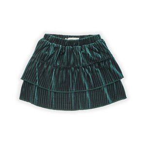 Sproet & Sprout Sproet & Sprout | Skirt Velvet Pleats Green