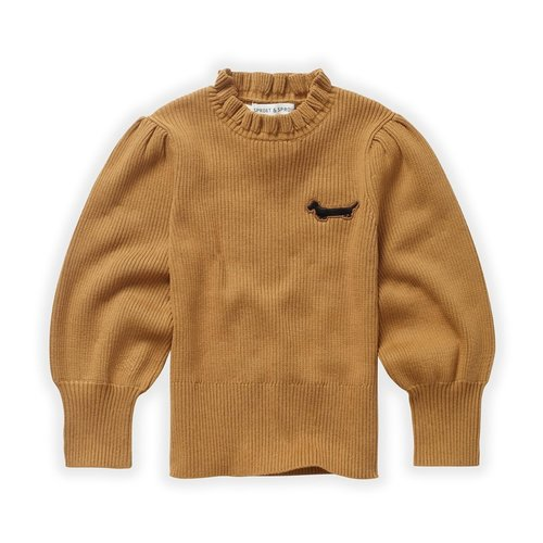 Sproet & Sprout Sproet & Sprout | Sweater Turtleneck Ruffle | Mustard