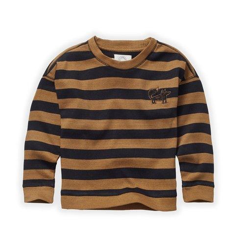 Sproet & Sprout Sproet & Sprout | Sweatshirt Stripe | Mustard + Black