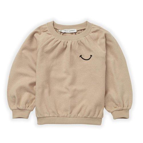 Sproet & Sprout Sproet & Sprout | Sweatshirt Loose Smile | Sweater nougat