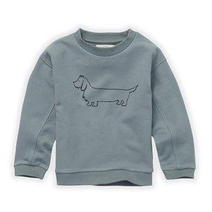 Sproet & Sprout Sproet & Sprout | Sweatshirt Sausage Dog | Sweater Lake blue