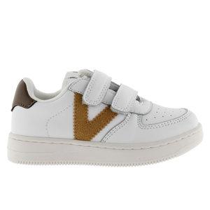 Victoria Victoria | 1124104 | Witte sneakers met goud | Mostaza