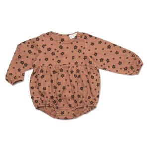 Petit Blush Petit Blush | Teddie Playsuit | Brown Floral