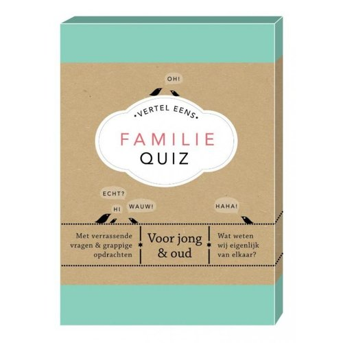 Boeken Vertel eens - Familie Quiz