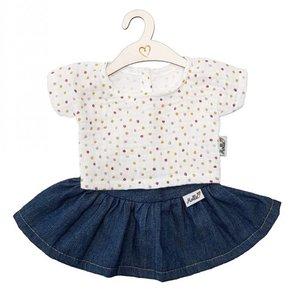 Hollie Hollie | Poppen rok en shirt | Jeans + dots