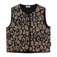 Daily Brat   Jacquard Vest   Gilet Lucky Leopard