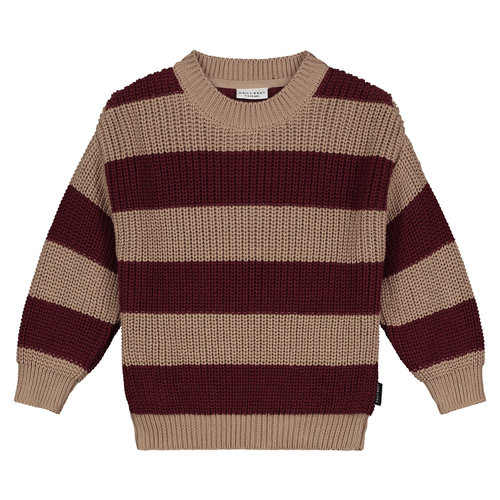 Daily Brat Daily Brat | Elliot Striped Knitted Sweater | Pecan