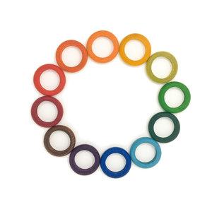 Grapat Grapat | Set van 12 houten ringen