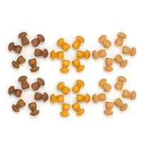 Grapat | Set van 36 mandala paddenstoelen