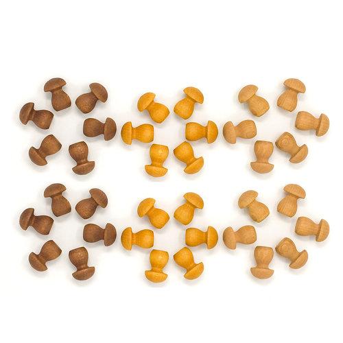Grapat Grapat | Set van 36 mandala paddenstoelen