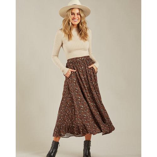 Rylee & Cru Rylee & Cru | Oceanside Skirt | Dames rok Winter Bloom